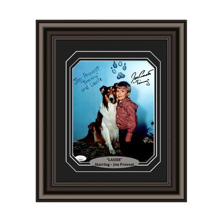 "Jon Provost // Signed Custom Framed ""Lassie"" Photo (Color)"