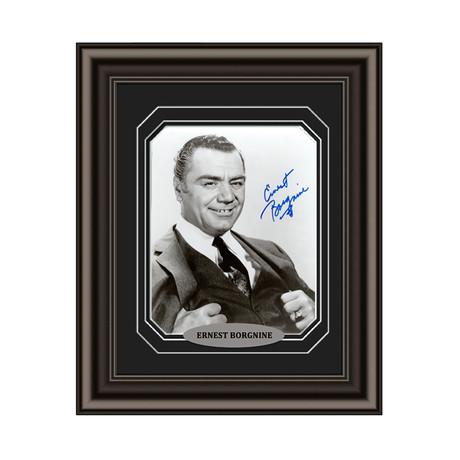 Ernest Borgnine // Signed Custom Framed Photo