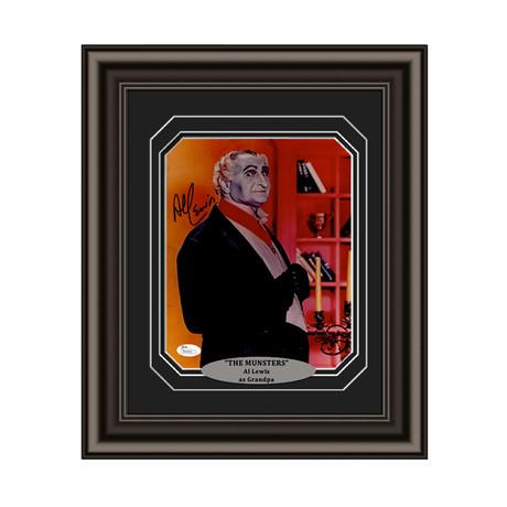 """Al Lewis // Signed Custom Framed """"Munsters"""" Photo"""