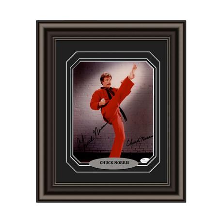 Chuck Norris // Signed Custom Framed Photo