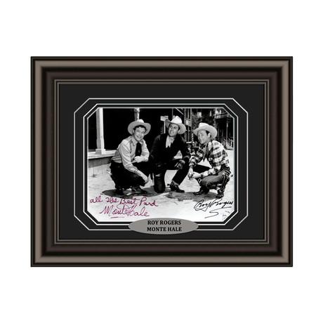 Roy Rogers + Monte Hale // Signed Custom Framed Photo
