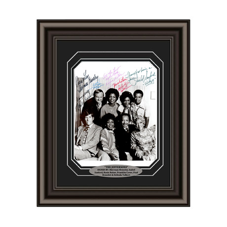 The Jeffersons // Cast Signed Custom Framed Photo