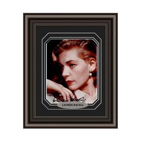 Lauren Bacall // Signed Custom Framed Photo