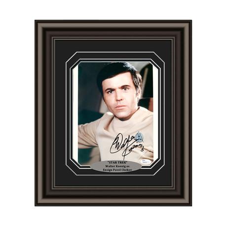 "Walter Koenig // Signed Custom Framed ""Star Trek"" Photo"