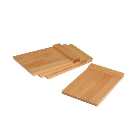 Firenze // Set Of 4 Multipurpose Plates // Beech