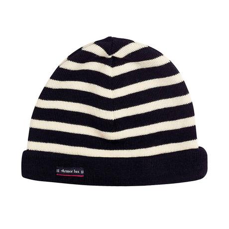 Striped Beanie // Black + White (Size 0)