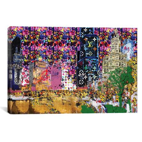 """Graffiti City // Heather Offord (18""""W x 12""""H x 0.75""""D)"""