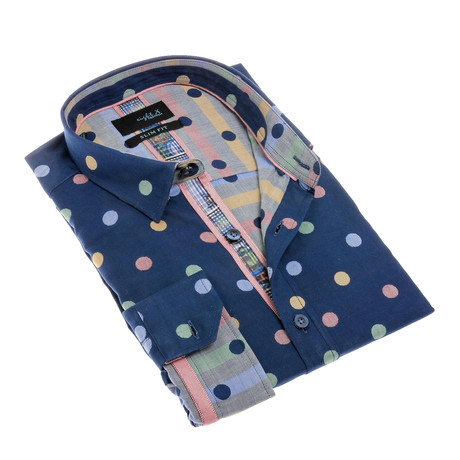 Ian Button-Up Shirt // Navy (S)