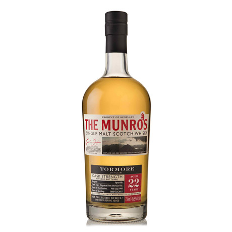 The Munro's Tormore Single Malt 22 Year Scotch