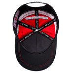 Logo Team Cap // Red + White + Black