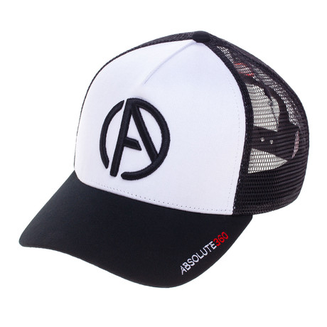 Logo Trucker Hat // White + Black