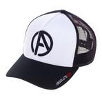 Logo Trucker Hat // White + Black