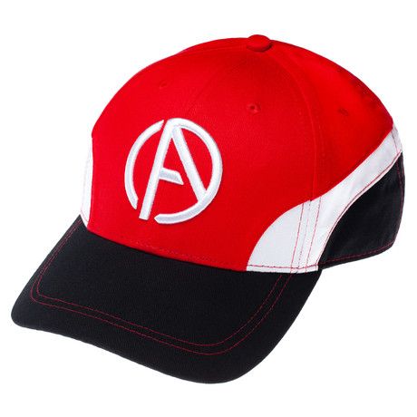 Logo Team Cap // Red + White + Black