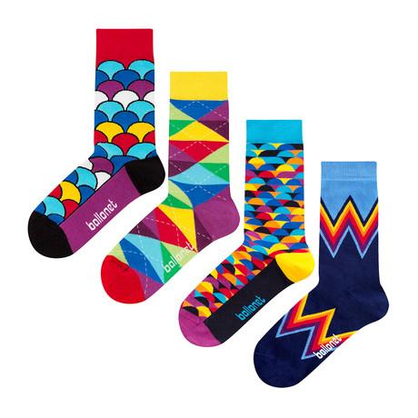 Bold Socks // 4 Pack (US: 6-9)