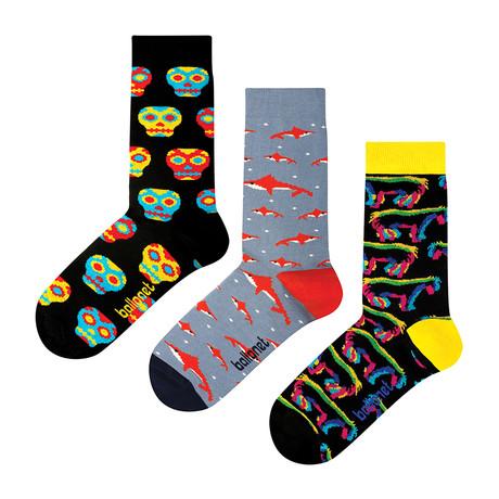 The Skulls Socks // 3 Pack (US: 6-9)