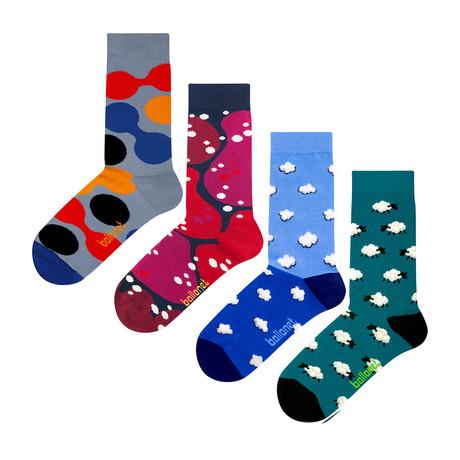 Sky Socks // 4 Pack (US: 6-9)