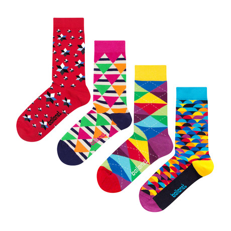 Geometric Socks // 4 Pack (US: 6-9)