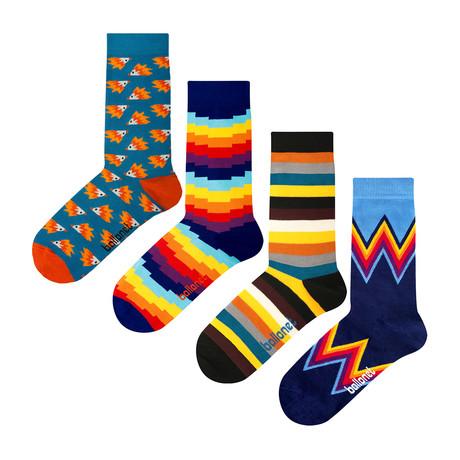 Stripy Socks // 4 Pack (US: 6-9)