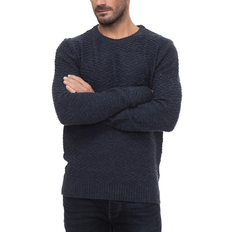 Crawford Sweater // Navy (Small)
