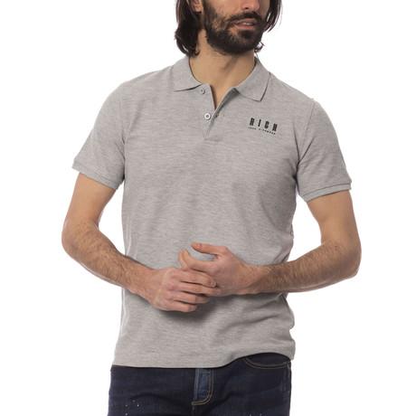 Fabio Polo Shirt // Medium Gray Melange (S)