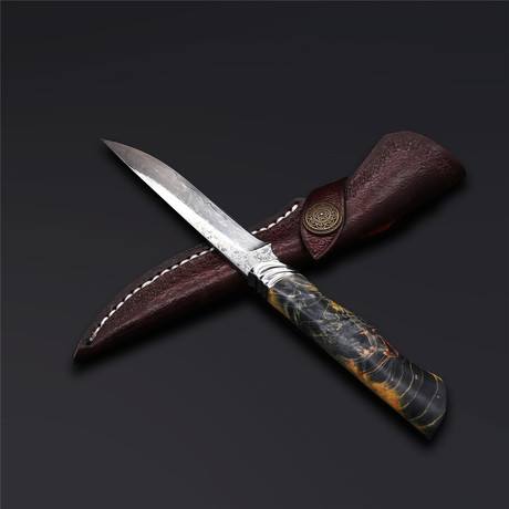 The Suzaku Damascus Fixed Blade