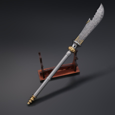 The Crescent Blade Damascus Letter Opener (Upgraded)