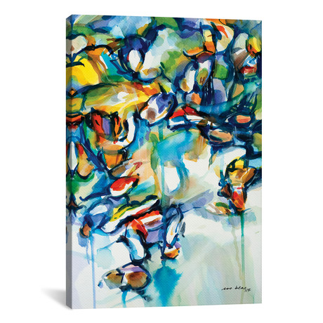 "Boats abstract II // Soo Beng Lim (12""W x 18""H x 0.75""D)"