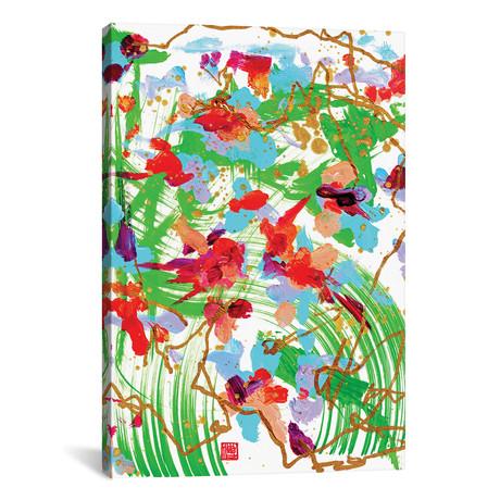 "Altar Flowers (Bach's Cello) // Odilia Fu (12""W x 18""H x 0.75""D)"