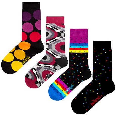 Dots Socks // 4 Pack (US: 6-9)