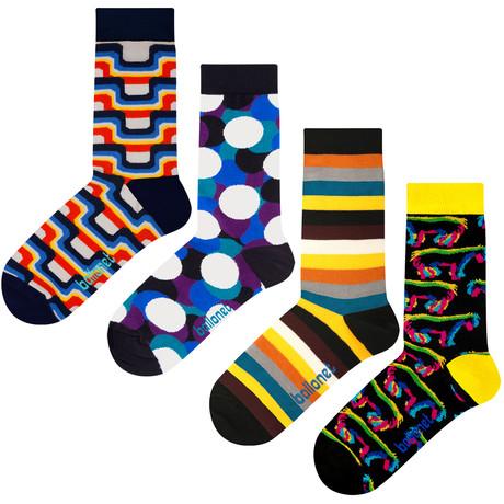 Dark Socks // 4 Pack (US: 6-9)