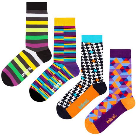 Striped Socks // 4 Pack (US: 6-9)