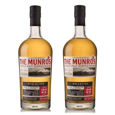 The Munro's 22 Year Single Malt Set // Set of 2