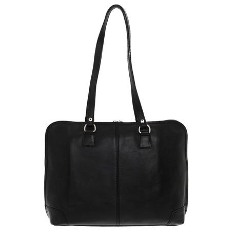 Elba Leather Travel Bag (Black)