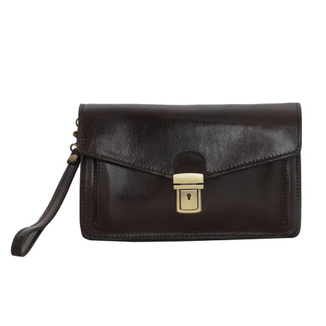 Signorelli Small Leather Travel Bag // Moro