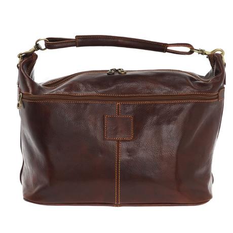Mantegna Leather Travel Bag (Black)