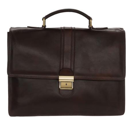 Palladio Leather Briefcase Bag (Black)
