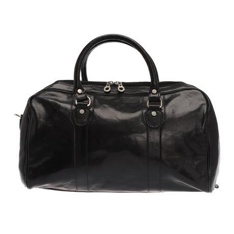 Antonello Leather Duffle Bag (Black)