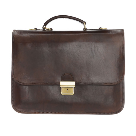 Botticelli Leather Briefcase Bag (Black)