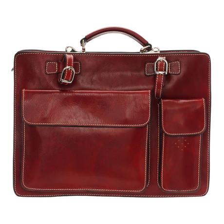 Bramante Leather Briefcase Bag (Black)
