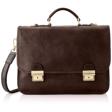 Giotto Leather Briefcase Bag (Natural)