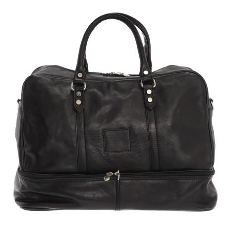 Adriano Leather Travel Bag (Black)