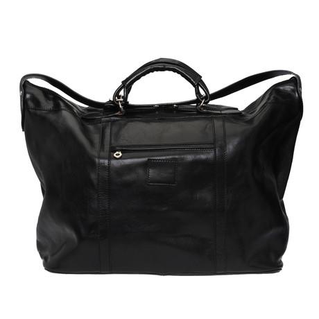 Lucca Leather Travel Bag (Black)
