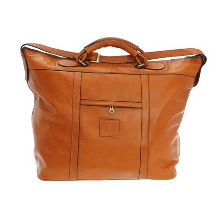 Viareggio Leather Travel Bag (Natural)