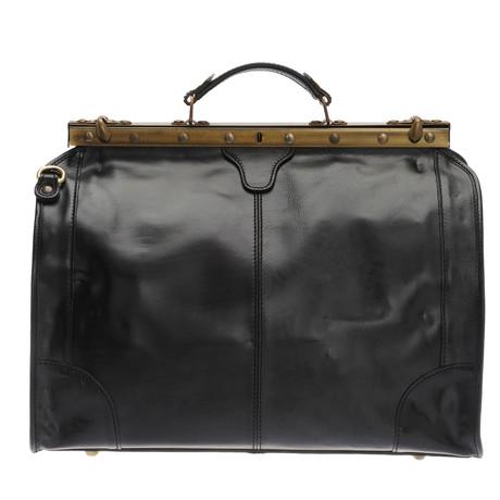 Romano Leather Travel Bag (Black)
