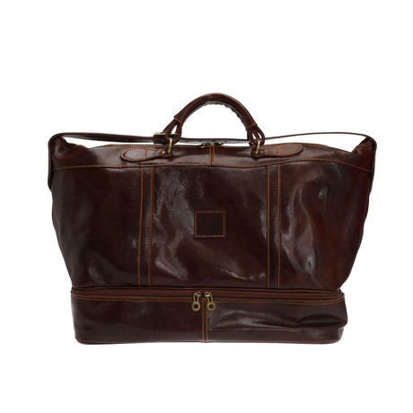 Pisa Leather Travel Bag (Black)