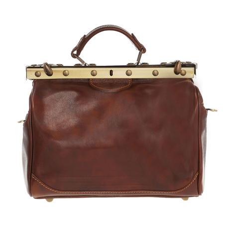 Euclide Leather Travel Bag (Black)