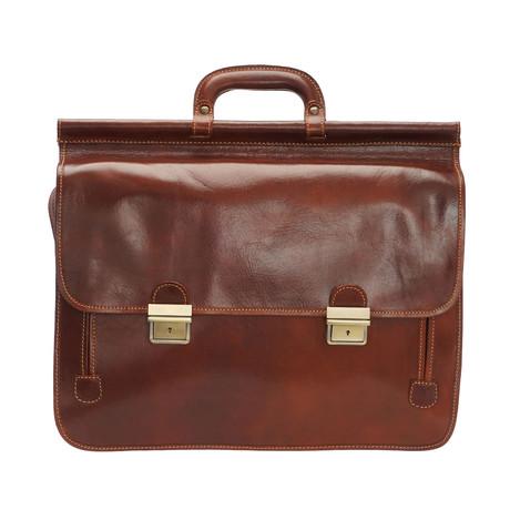 Divino Leather Briefcase Bag (Moro)