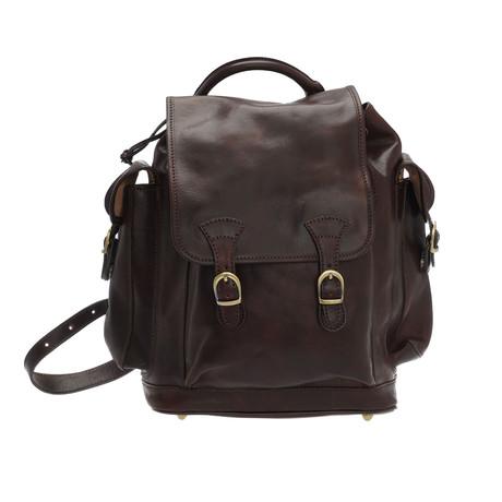 Sanzio Leather Backpack (Moro)