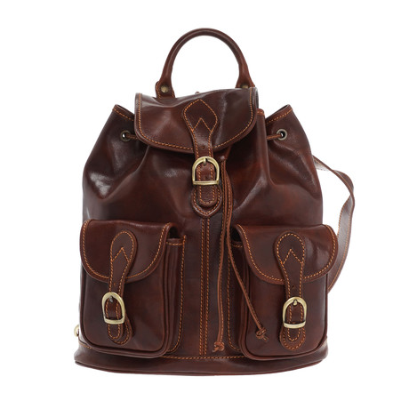 Romeo Leather Backpack // Brown
