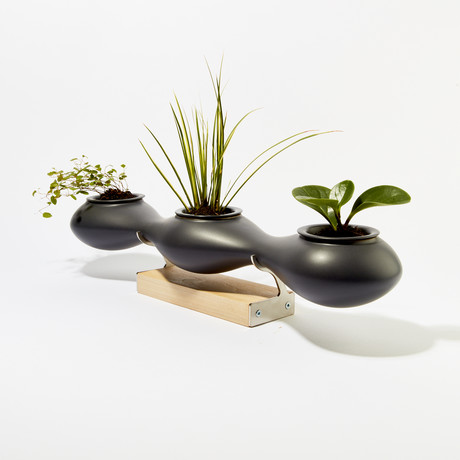 Sakura Planter (Gray with Poplar Stand)